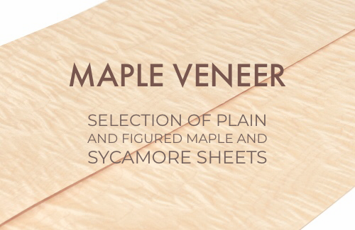 Maple veneer section